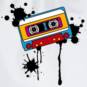 Retro mix tape, splash, splatter, music, 80er Tee shirts - Sac de sport léger