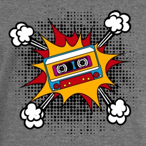 Retro cassette, tape, comic style, pop art, music T-skjorter - Damegenser med båthals fra Bella