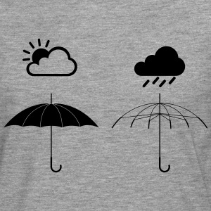 Screen Weather T-shirts - Herre premium T-shirt med lange ærmer