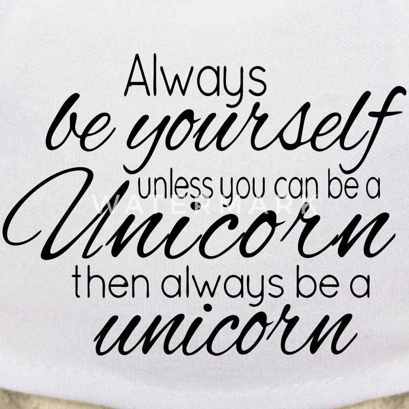 Always be a Unicorn Bamser - Teddybjørn