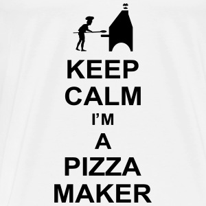 keep_calm_i'm_a_pizza_maker_g1 Toppe - Herre premium T-shirt