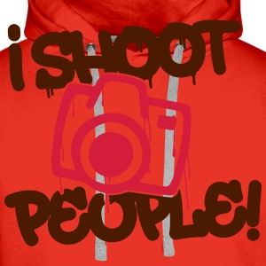 I shoot people - Photography T-Shirts - Men's Premium Hoodie