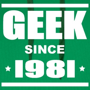 Geek since 1981 Tee shirts - Men's Premium Hoodie