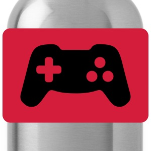 Gamepad, Controller, Gamer Polo Shirts - Water Bottle