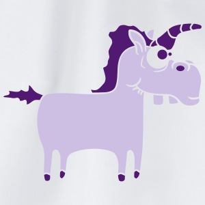 Silly Funny Crazy Purple Unicorn T-Shirts - Drawstring Bag