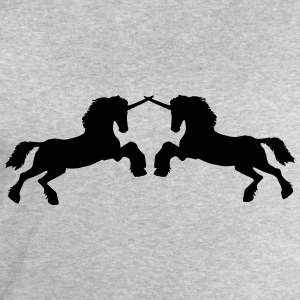 Unicorns 2 fighters attack stallion fight T-Shirts - Men's Sweatshirt by Stanley & Stella