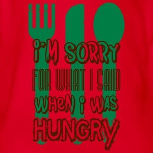 I'm sorry for what I said when I was hungry T-shirts - Ekologisk kortärmad babybody