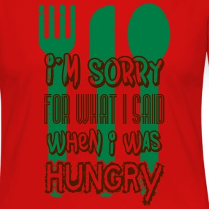 I'm sorry for what I said when I was hungry Tee shirts - T-shirt manches longues Premium Femme