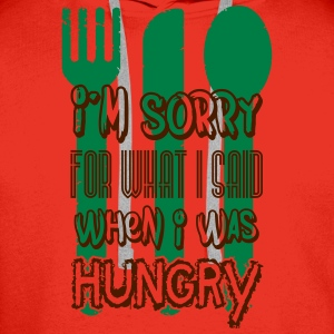 I'm sorry for what I said when I was hungry Débardeurs - Sweat-shirt à capuche Premium pour hommes