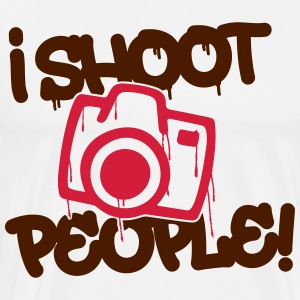 I shoot people - Photography Langarmshirts - Männer Premium T-Shirt