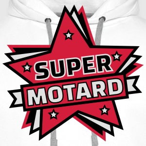 super motard Tee shirts - Sweat-shirt à capuche Premium pour hommes