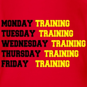 Training week Tee shirts - Body bébé bio manches courtes