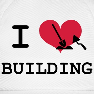 I Love Building T-shirts - Basebollkeps