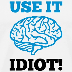 Idiot Brain Tank Tops - Men's Premium T-Shirt