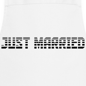 Just Married Text Logo Design T-shirts - Förkläde