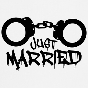 Just married prisonnier menotté drôle Tee shirts - Tablier de cuisine