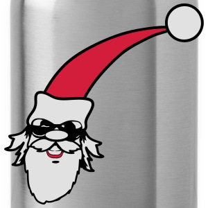 Santa Claus smoking weed joint sunglasses T-Shirts - Water Bottle