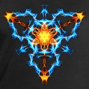Flame, fractal, energy, power, chi, shield, hero L - Men's Sweatshirt by Stanley & Stella