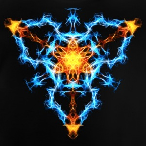 Flame, fractal, energy, power, chi, shield, hero L - Baby T-Shirt