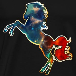 Space Horse, cosmos, universe, space, galactic Pul - Männer Premium T-Shirt
