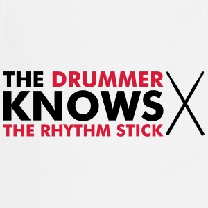 The Drummer knows the rhythm stick Felpe - Grembiule da cucina