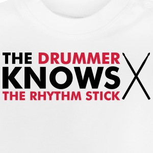 The Drummer knows the rhythm stick Manches longues - T-shirt Bébé