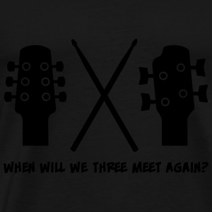 When will Guitar, Bass and Drums meet again? Tops - Camiseta premium hombre