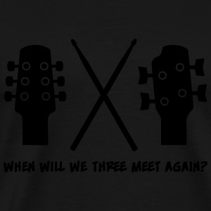 When will Guitar, Bass and Drums meet again? Manga larga - Camiseta premium hombre