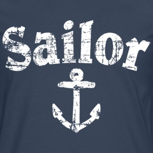 Sailor Anchor Vintage Sailing Design (White) T-skjorter - Premium langermet T-skjorte for menn