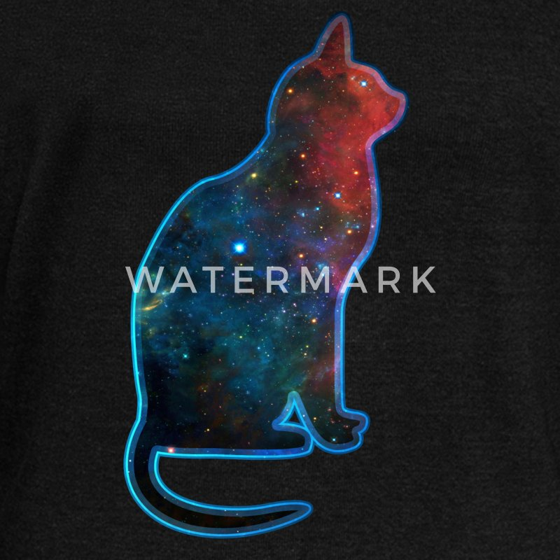 Space cat, cosmos, universe, galaxy, milky way Hoodies & Sweatshirts - Women's Boat Neck Long Sleeve Top