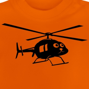 Helikopter med ansigt T-shirts - Baby T-shirt