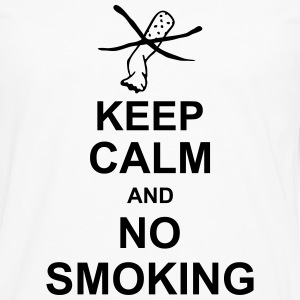keep_calm_and_no_smoking_g1 Forklæder - Herre premium T-shirt med lange ærmer