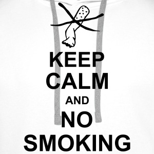 keep_calm_and_no_smoking_g1 T-shirts - Mannen Premium hoodie