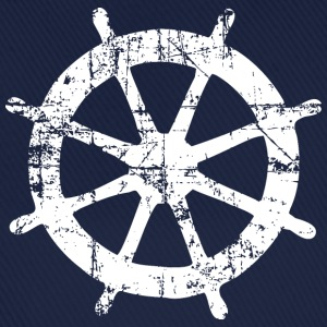 Steering Wheel Vintage White Sailing Design Tee shirts - Casquette classique