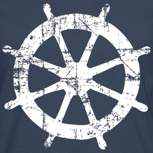 Steering Wheel Vintage White Sailing Design Tee shirts - T-shirt manches longues Premium Homme