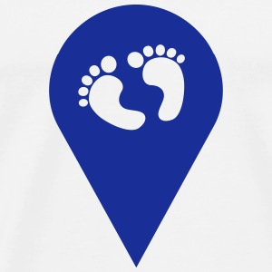 Baby Finder, here is a baby, Geotagging Tops - Men's Premium T-Shirt