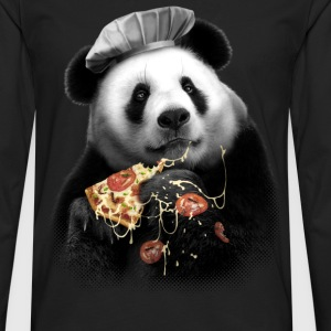 PANDA LOVES PIZZA - Men's Premium Longsleeve Shirt