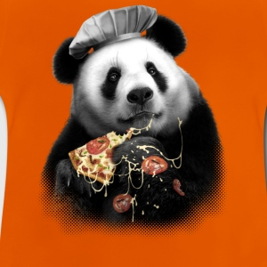 Orange Pizza Panda Tee shirts - T-shirt Bébé