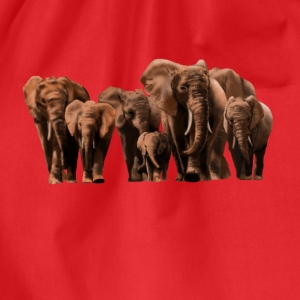 elephants T-Shirts - Turnbeutel