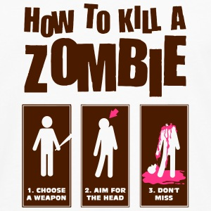 How to kill a Zombie Tee shirts - T-shirt manches longues Premium Homme
