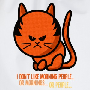 grumpy cat - i don't like morning people T-shirts - Gymnastikpåse