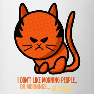 grumpy cat - i don't like morning people Bluzy - Kubek