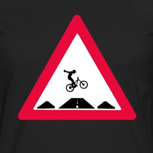 Bike trail crossing T-Shirts - Männer Premium Langarmshirt