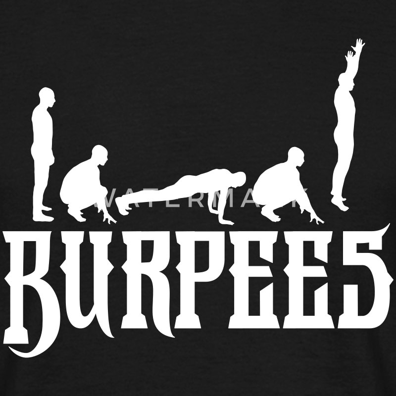 Burpees Silhouette T-Shirts - Men's T-Shirt