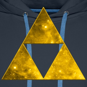 Space Triangle, Mathematics, Universe, Triforce,   - Männer Premium Hoodie