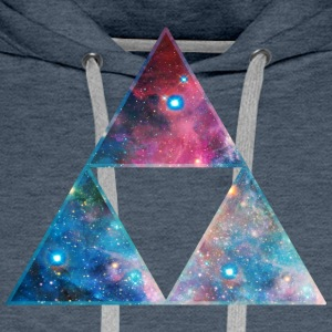 Galaxy Triforce, Mathematics, Universe, Space,  T-shirts - Premiumluvtröja herr