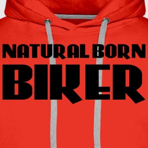 Natural born Biker T-skjorter - Premium hettegenser for menn