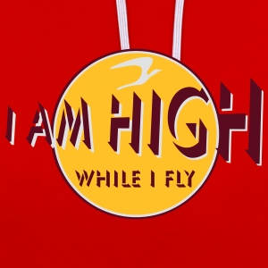 i am high x_vec_3 fr Tee shirts - Sweat-shirt contraste
