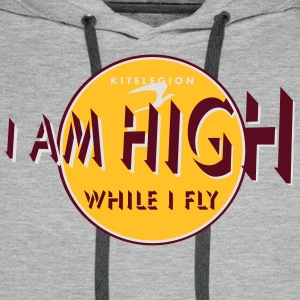 i am high_vec_3 fr Tee shirts - Sweat-shirt à capuche Premium pour hommes