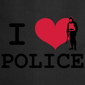 I Love Police T-Shirts - Cooking Apron
